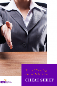 travel nurse interview cheat sheet