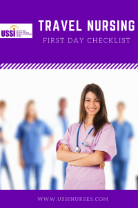 travel nursing first day checklist